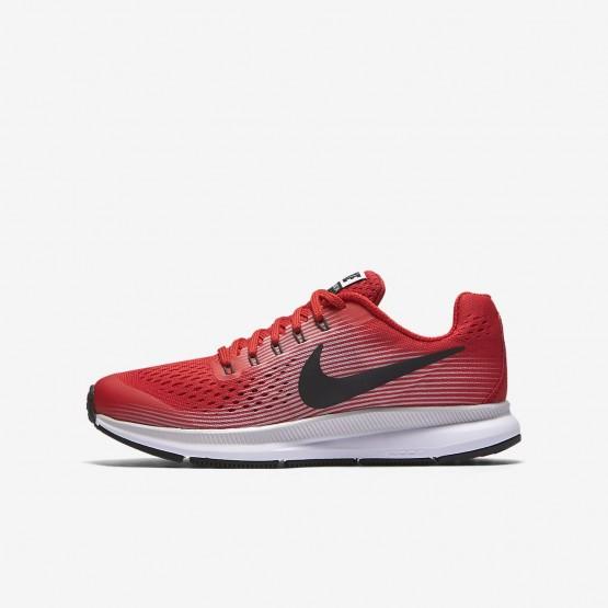 Nike Zoom Pegasus 34 Running Shoes Boys Speed Red/Vast Grey/Black/Anthracite 881953-601