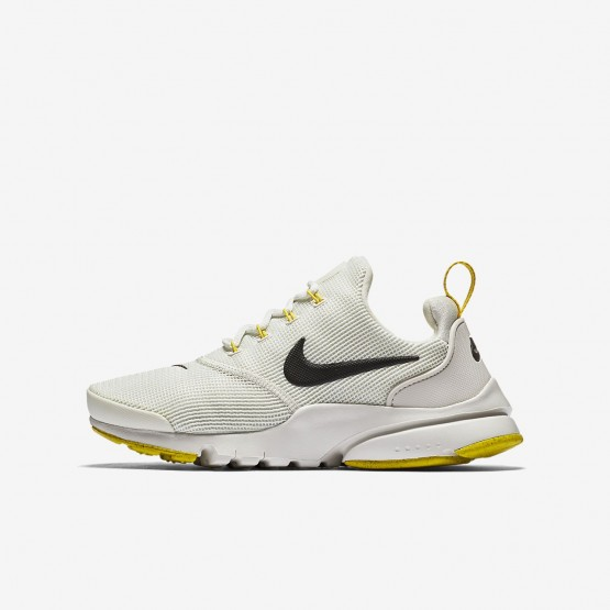 Nike Presto Fly Lifestyle Shoes Boys Light Bone/Vivid Sulfur/Velvet Brown 913966-007