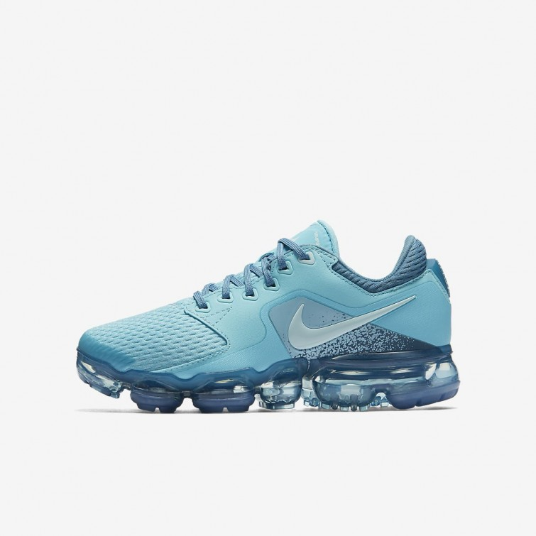3e2c80292654 Nike Air VaporMax Running Shoes Boys Bleached Aqua Noise Aqua Glacier Blue  917962-