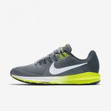 Nike Air Zoom Running Shoes Mens Cool Grey/Anthracite/Volt/White 904695-007