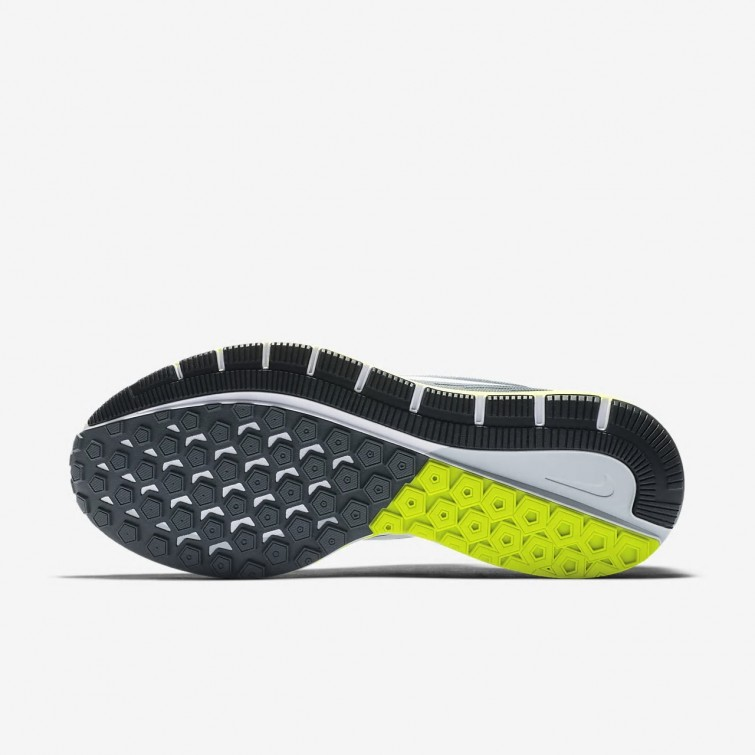 e4bf7774d05e Nike Air Zoom Structure 21 Running Shoes Mens Cool Grey Anthracite Volt  White ...