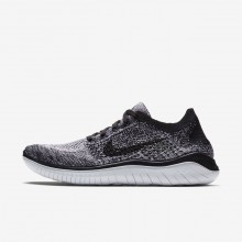 Nike Free RN Flyknit 2018 Running Shoes Womens White/Black 942839-101