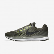 Nike Air Zoom Pegasus 34 Running Shoes Mens Sequoia/Dark Stucco/Volt/Black 880555-302