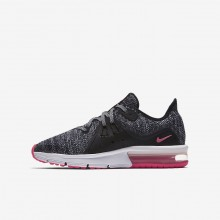 Nike Air Max Sequent 3 Running Shoes Girls Black/Anthracite/Cool Grey/Racer Pink 922885-001