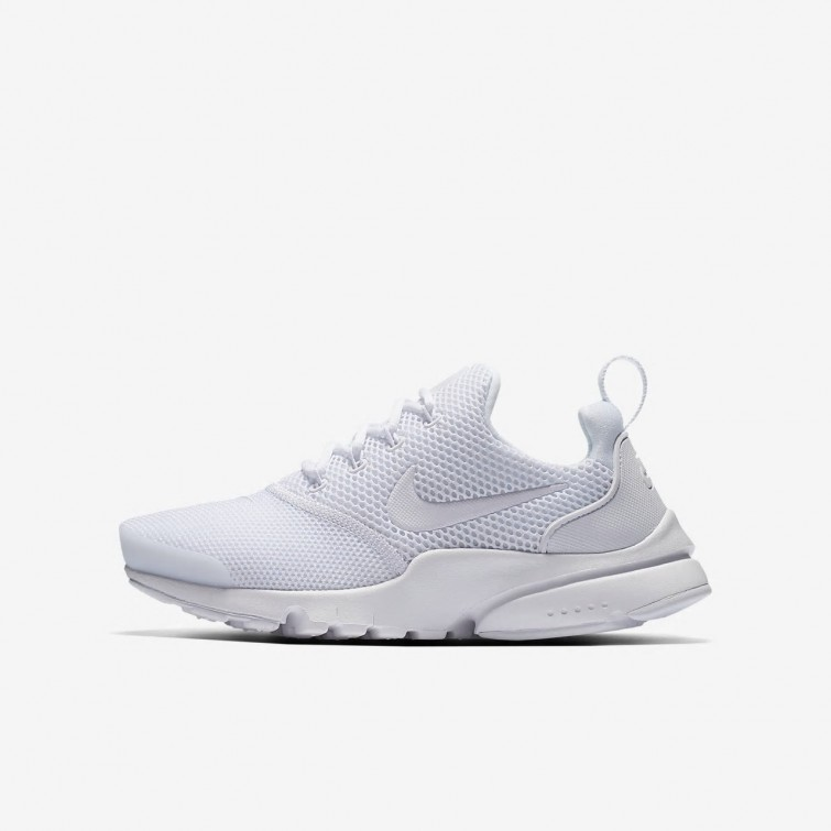 new concept 6ab35 4f4a4 Nike Presto Fly Lifestyle Shoes Boys White 913966-101