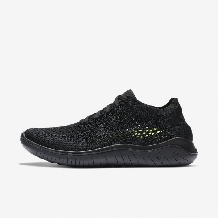 85a08ad2a69 Nike Free RN Flyknit 2018 Running Shoes Womens Black Anthracite 942839-002