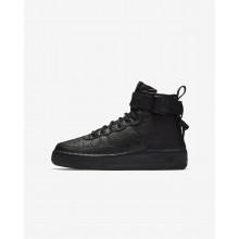 Nike SF Air Force 1 Mid Lifestyle Shoes Boys Black AJ0424-003