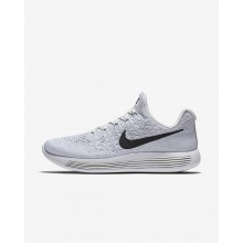 Nike LunarEpic Low Flyknit 2 Running Shoes Womens White/Pure Platinum/Wolf Grey/Black 863780-100