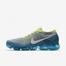 Nike Air VaporMax Flyknit Running Shoes Mens Wolf Grey/Chlorine Blue/Photo Blue/White 849558-022