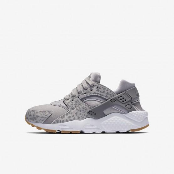 Nike Huarache SE Lifestyle Shoes Girls Atmosphere Grey/Gum Light Brown/White/Gunsmoke 904538-007
