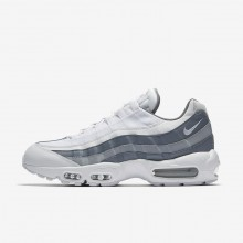 Nike Air Max 95 Essential Lifestyle Shoes Mens White/Cool Grey/Wolf Grey 749766-105