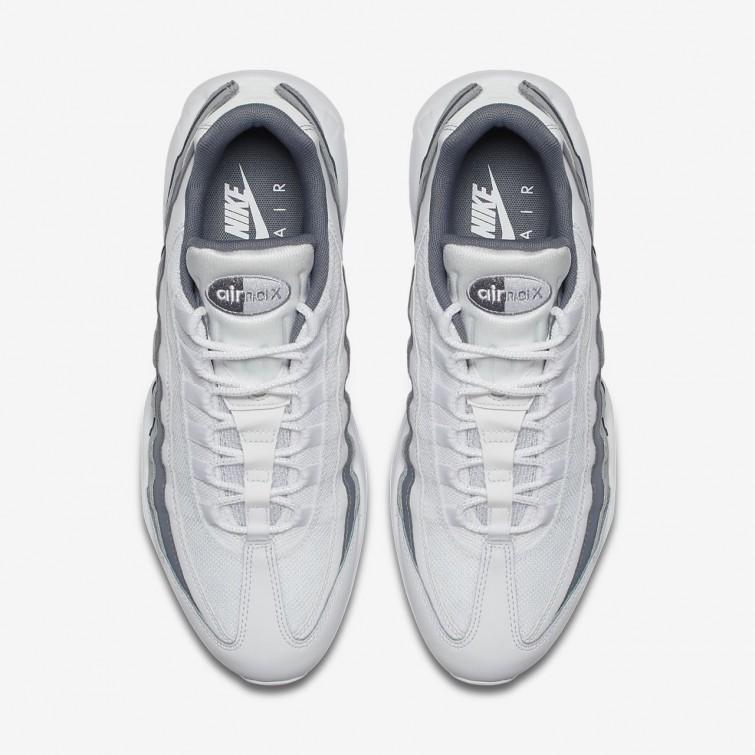 Nike Air Max 95 Essential White, Wolf Grey & Team Red | END.