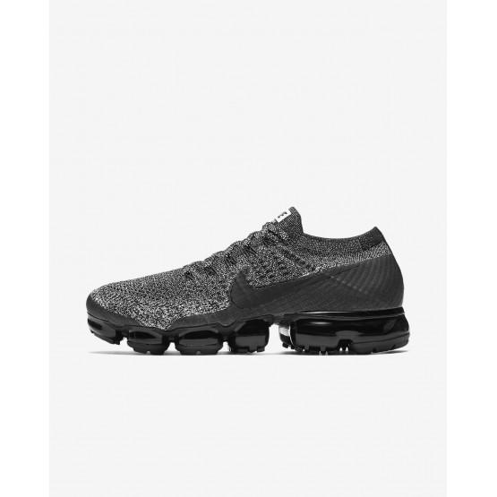 Nike Air VaporMax Flyknit Running Shoes Mens Black/White/Racer Blue 849558-041