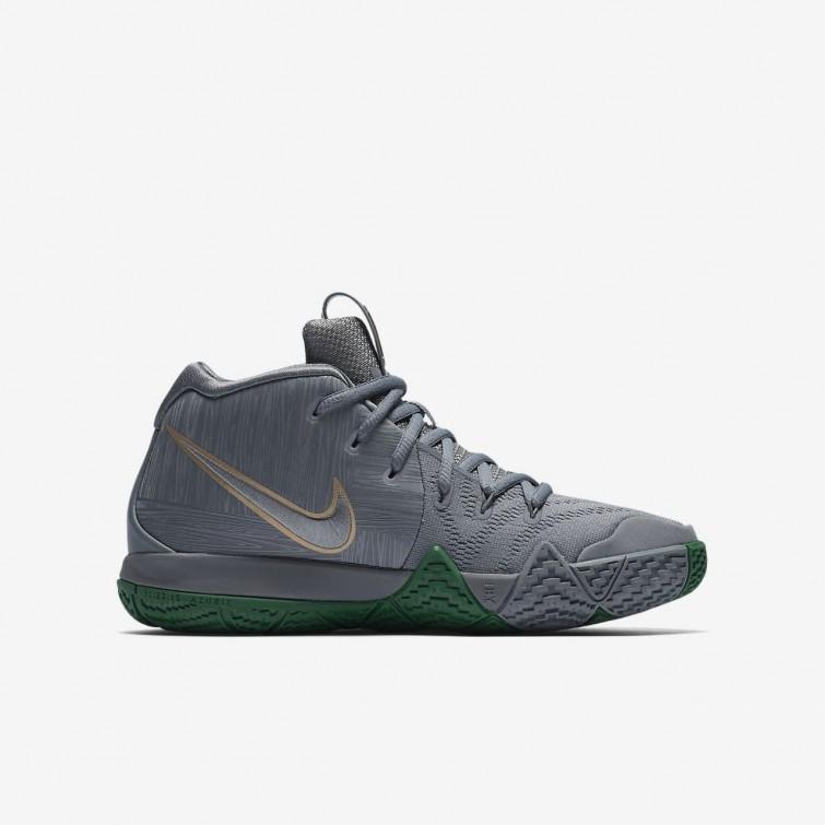 2444627b2de5 ... Nike Kyrie 4 Basketball Shoes Boys Flat Silver Metallic Gold AA2897-001  ...