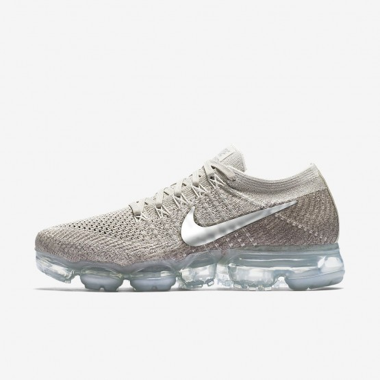 Nike Air VaporMax Flyknit Running Shoes Womens String/Sunset Glow/Taupe Grey/Chrome 849557-202