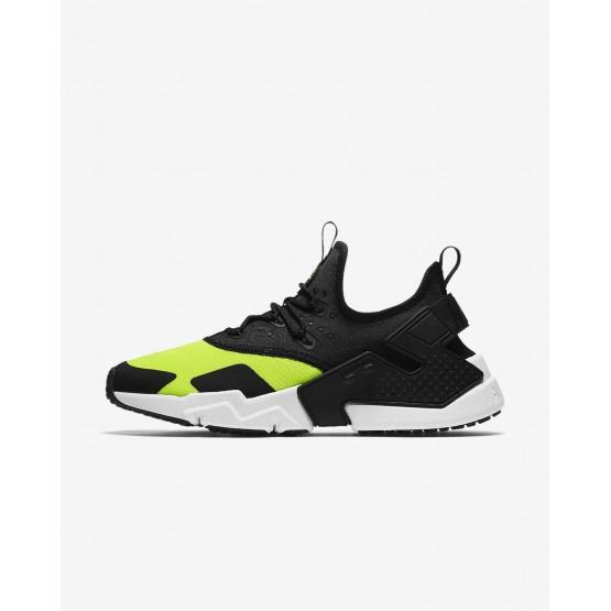 Nike Air Huarache Drift Lifestyle Shoes Mens Volt/White/Black AH7334-700