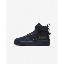 Nike SF Air Force 1 Mid Lifestyle Shoes Boys Obsidian/Black AJ0424-400