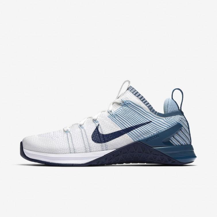63c6970e1322 Nike Metcon DSX Flyknit 2 Training Shoes Womens White Mica Blue Night  Factor