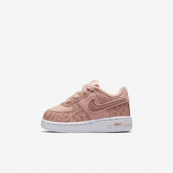 Nike Air Force 1 LV8 Lifestyle Shoes Girls Coral Stardust/White/Rust Pink AH7530-600