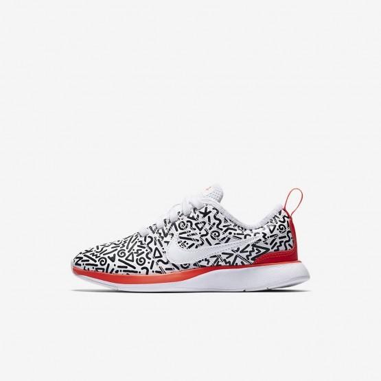 Nike Dualtone Racer QS Lifestyle Shoes Boys White/Black/Bright Crimson AQ0910-100