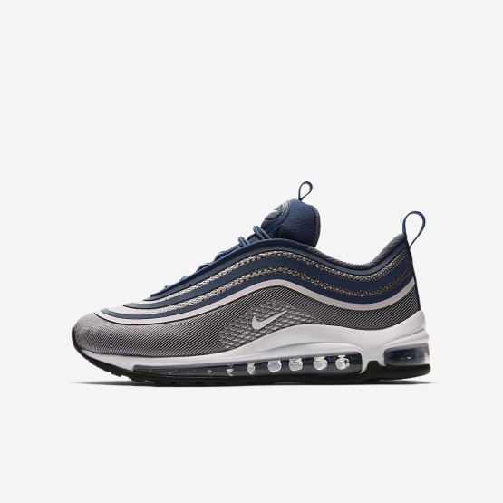 Nike Air Max 97 Ultra 17 Lifestyle Shoes Girls Light Carbon/Barely Rose/Navy/White 917999-003