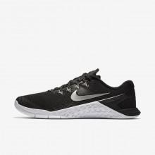 Sapatilhas De Treino Nike Metcon 4 Mulher Pretas/Branco/Metal Prateadas 924593-001