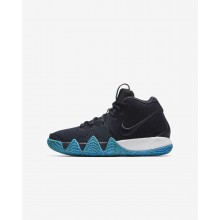 Nike Kyrie 4 Basketball Shoes Boys Dark Obsidian/Black AA2897-401