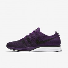 Nike Flyknit Trainer Lifestyle Shoes Mens Night Purple/White/Black AH8396-500