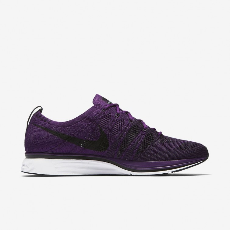 2302141859be4 ... Nike Flyknit Trainer Lifestyle Shoes Mens Night Purple White Black  AH8396-500 ...