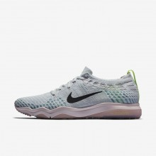Sapatilhas De Treino Nike Air Zoom Fearless Flyknit Lux Mulher Platina/Rosa/Rosa 922872-004