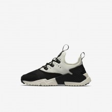Nike Huarache Run Drift Lifestyle Shoes Boys Black/White/Sail AA3503-002