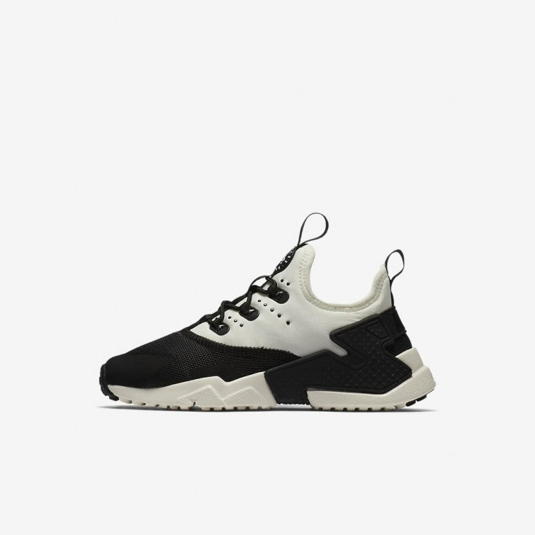 879a9fc0beb Nike Huarache Run Drift Lifestyle Shoes Boys Black/White/Sail AA3503-002