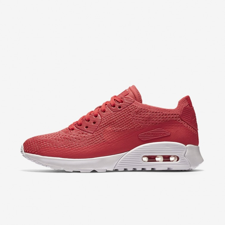 the best attitude 8fbe4 71299 Nike Air Max 90 Ultra 2.0 Flyknit Lifestyle Shoes Womens Geranium White  881109-600