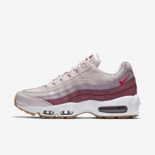 Nike Air Max 95 OG Lifestyle Shoes Womens Barely Rose/Vintage Wine/White/Hot Punch 307960-603