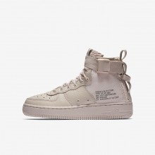 Nike SF Air Force 1 Mid Lifestyle Shoes Boys Siltstone Red/Dust AJ0424-600