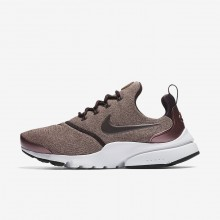 Nike Presto Fly SE Lifestyle Shoes Womens Port Wine/Particle Pink/Black/Metallic Mahogany 910570-602