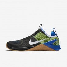 Nike Metcon DSX Flyknit 2 Training Shoes Mens Black/Racer Blue/Volt/White 924423-006