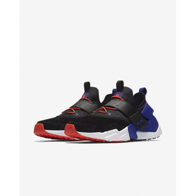 ea75144bc9d4 ... Nike Air Huarache Drift Premium Lifestyle Shoes Mens Black Rush  Orange Lagoon Pulse