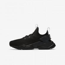 Nike Huarache Run Drift Casual Schoenen Jongens DonkerGrijs/Grijs 943344-001