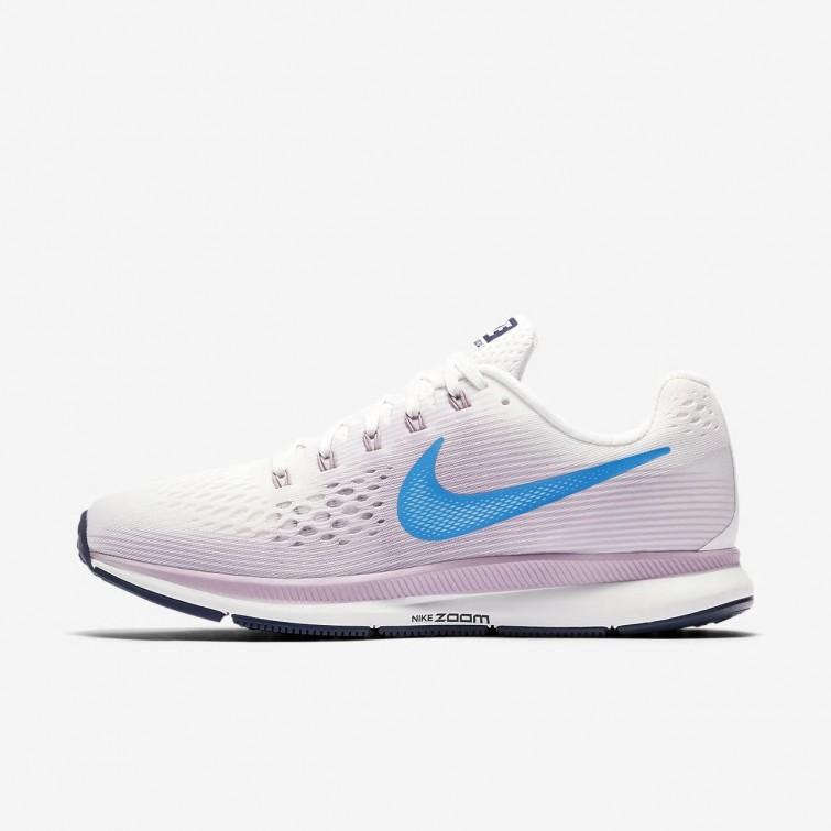 9e6a8aec4a5 Zapatillas Running Nike Air Zoom Pegasus 34 Mujer Blancas/Rosas/Azules/Azules  880560
