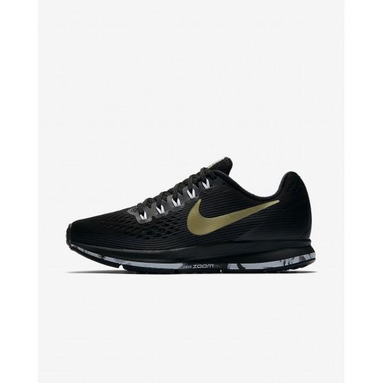 Zapatillas Running Nike Air Zoom Pegasus 34 Mujer Negras/Blancas/Metal Doradas 880560-017