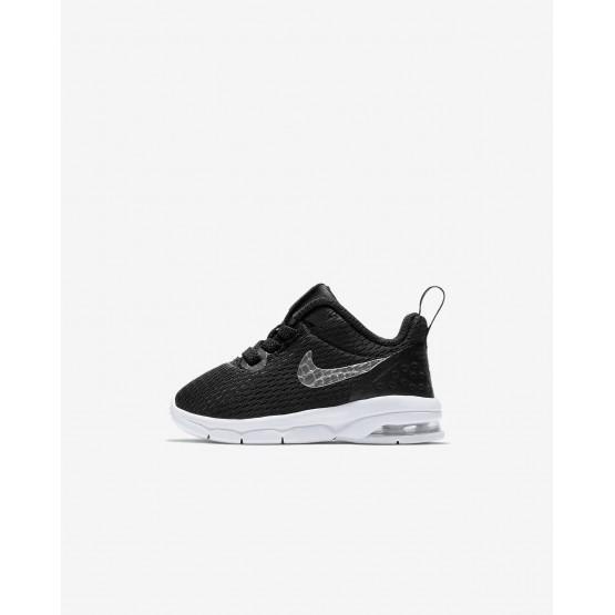 Nike Air Max Motion LW Lifestyle Shoes Boys Black/White/Metallic Pewter 917652-005