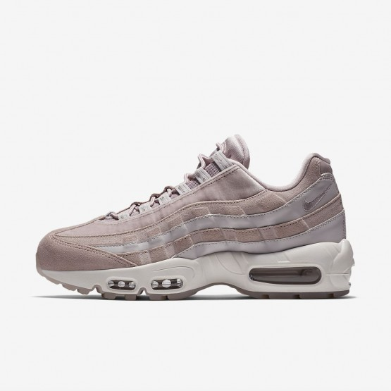 Nike Air Max 95 LX Lifestyle Shoes Womens Particle Rose/Vast Grey/Summit White AA1103-600
