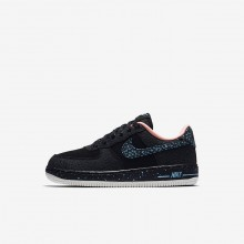 Nike Air Force 1 Lifestyle Shoes Boys Black/Crimson Pulse/Summit White/Lagoon Pulse AJ4675-002