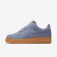 Nike Air Force 1 Lifestyle Shoes Womens Glacier Grey/Gum Medium Brown/Ivory AA0287-001