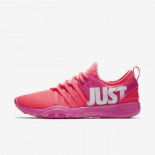 Nike Free Trainer 7 Premium Training Shoes Womens Hot Punch/Pink Blast/White 924592-601