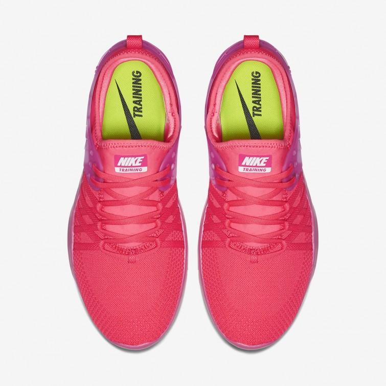 508739e7b16a ... Nike Free Trainer 7 Premium Training Shoes Womens Hot Punch Pink  Blast White 924592 ...