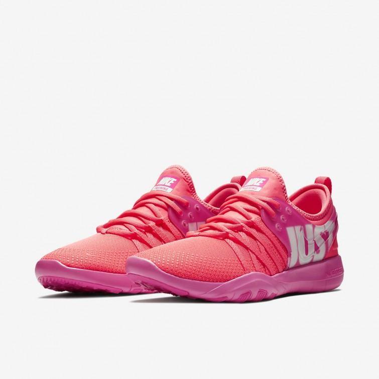 92fc9721bd94 ... Nike Free Trainer 7 Premium Training Shoes Womens Hot Punch Pink  Blast White 924592