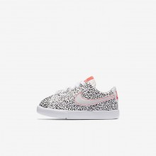 Nike Blazer Low QS Lifestyle Shoes Girls White/Black/Bright Crimson AO1035-100