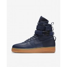 Nike SF Air Force 1 Lifestyle Shoes Mens Midnight Navy/Black/Gum Medium Brown 864024-400